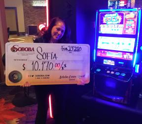 Congratulations to Sofia E, winning a jackpot of $10,170.00 on our Spitfire.