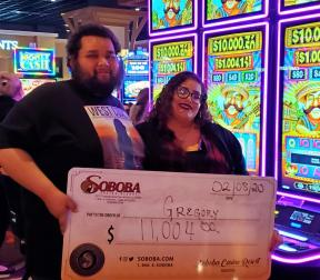 Congratulations to Gregory L, winning a jackpot of $11,004.00 on our Chili Fire Boosted