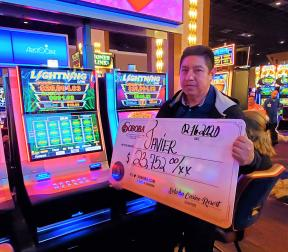 Congratulations to Javier E, winning a jackpot of $23,752.00 on our Fortune Eyes
