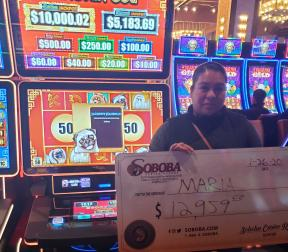 Congratulations to Maria A, winning a jackpot of $12,959.00 on our Xingyun Gou